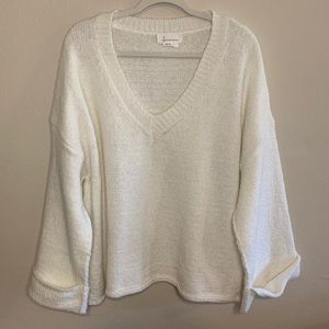 By Anthropologie large sweater oversized white top